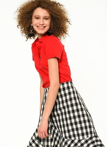 Fashion Friends Polo Yaka Tişört Kırmızı